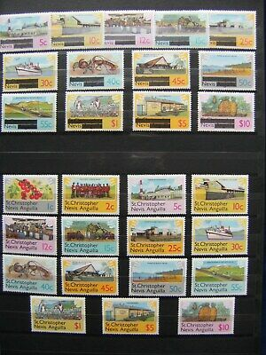 St Nevis Kitts Lucia Vincent Mint Commonwealth Collection to $10 Incl M/sheets