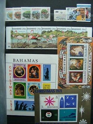 Jamaica Bahamas Mainly Mint Collection Incl M/sheets x9 Vals to $5