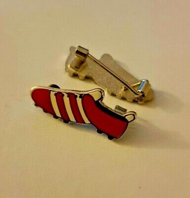 Red & White Football Boot Enamel Pin badge Liverpool Arsenal Southampton NEW