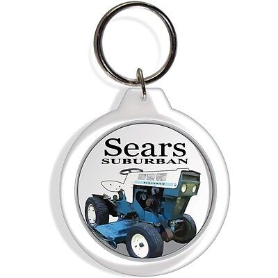 Sears Craftsman Garden Farm Tractor Keychain Key Chain Ring Suburban 1966