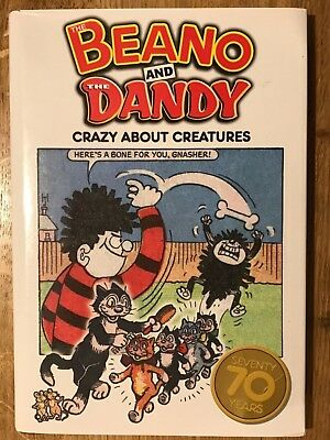 Beano And Dandy Crazy About Creatures Vintage Comic Nostalgia Hardback Near Mint