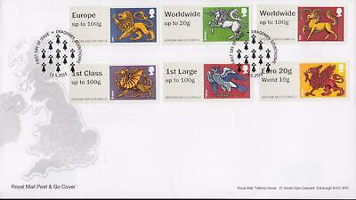 GB 2015 (13th May) Heraldic Beasts Dragonby Post & Go Stamps on RM Cover