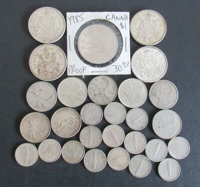 Canadian Mixed Silver Coin Lot $6.30 Face Value ++ Must See This One