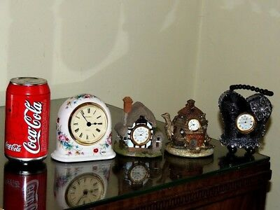 Four Delightful Small Mantle Clocks