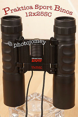 Praktica Sports Binoculars 12x25SC with case. Excellent +