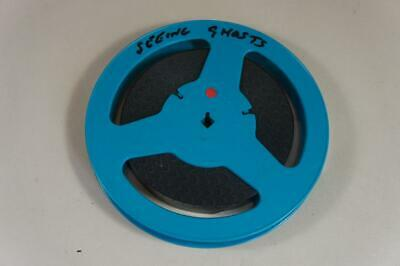 16mm b&w & sound 300' animated film 'Seeing Ghosts' on blue Cecolite 400' spool