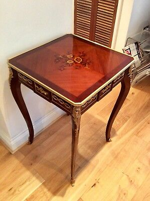 Louis XVI mahogany Marquetry Ormolu mounted inlaid center table