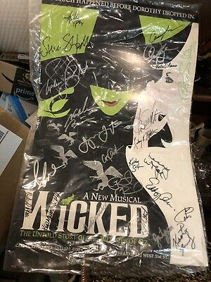 WICKED  Broadway autographed  Poster 2007?