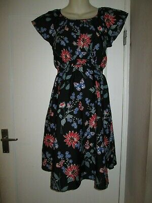 Pretty Size 10 Butterfly Maternity Dress See Pics!!