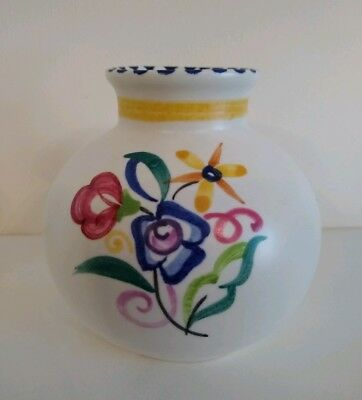 Poole Pottery Bulbous Posy Vase - Floral pattern - Excellent condition