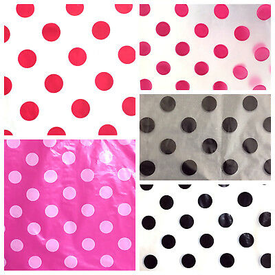 Strong Polka Print Black On White Carrier Bags / Party Bags / Romotional Bags