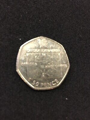 Rare Football Offside Rule Olympic 50p Pence UK Coin 2011 Circulated