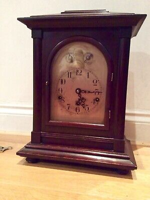 Superb Mahogany Westminster chime mantel clock made in German