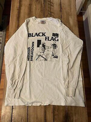 Black Flag Nervous Breakdown Long Sleeve T XL Vintage