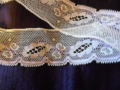 1y ANTIQUE VICTORIAN FRENCH COTTON LACE for JUMEAU FASHION ALL BISQUE DOLL DRESS