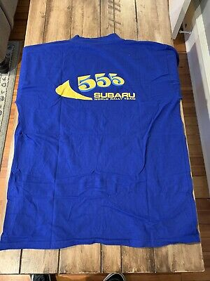Vintage Subaru WRC 555 Rally T-shirt XL