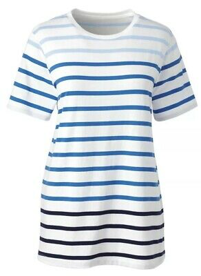 adaee80284a Womens Size 2x Lands End Plus Size Relaxed Supima Crewneck T Shirt Casual