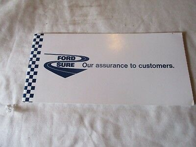 FORD SURE SERVICE PLAN ALL MODELS (mint condition) Dated 1976