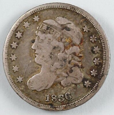1836 Capped Bust Silver Half Dime H10C