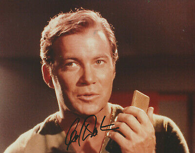 William Shatner Signed 8X10 Color Photo Star Trek Capt Kirk Autograph