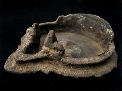 2#Beautiful & Most Rare Ancient Bronze Oil Lamp Cheap Price Don't Miss!!