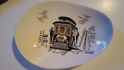 Mid-Century San Francisco Cable Car Dish Sascha Brastoff for ACBL Fall Nationals