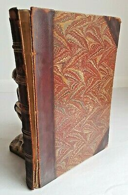 Antique! Late 1800s Early 1900s Aesop's Fables Griset Illustrated Leather Bnd NR