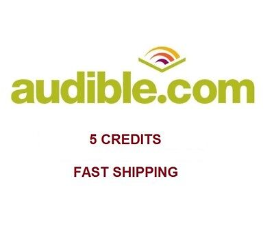 Audible 5 credits to your existing account US audible.com