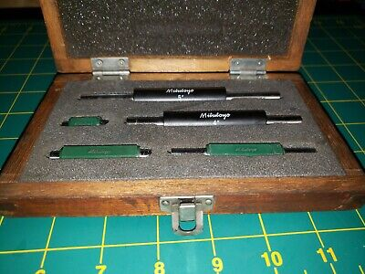 "Mitutoyo 1-5 Inch 1"" 2"" 3"" 4"" & 5"", 5 Piece Micrometer Calibration Standard Set"
