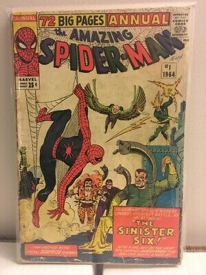 Amazing Spider-Man Annual 1 - 1st Sinister Six - Reader Copy - Mysterio - Ditko
