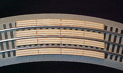 """RR X Crossing for Lionel O Fastrack 3-rail 36""""curve 12015 sectional track."""