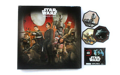 Star Wars Cosmic Shell Leclerc Classeur Album Rogue One 2016 complet