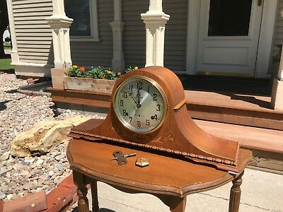 Restored Antique Pre WWII Sessions Westminster WC99 Chime Mantel Clock Warranty