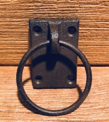 Reproduction Ring Drawer Pull Cast Iron Rustic Brown Lodge 0184-0028