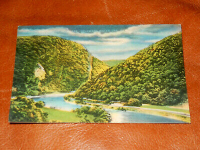 "Hard To Find Delaware Water Gap Vintage Postcard, ""moonlight On The Delaware"""