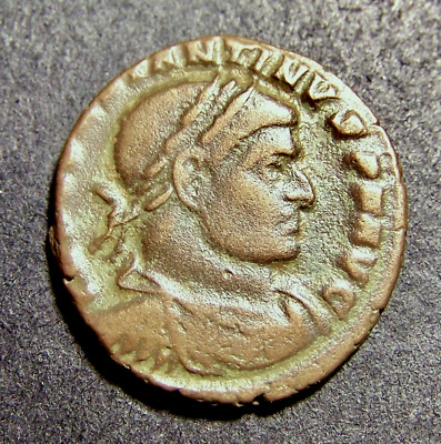 CONSTANTINE I, Sun Worship, Winter Solstice in Old France, SCARCE Roman Coin