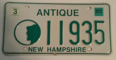 New Hampshire Antique License Plate #11935  Old Man In The Mountain