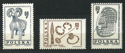 Poland 1966 : Archeology   // 3 stamps