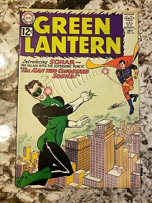 Green Lantern #14 Featuring the 1st Appearance of Sonar Beautiful Book