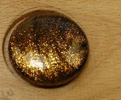 """NICE 11/16"""" Goldstone  Glass Antique Button 759:7"""