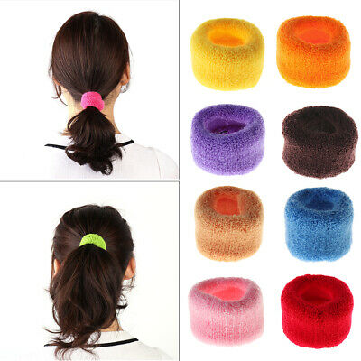 Soft Big Wide Rubber Bands Ponytail Hair Holders Elastic Accessories Tie Rope