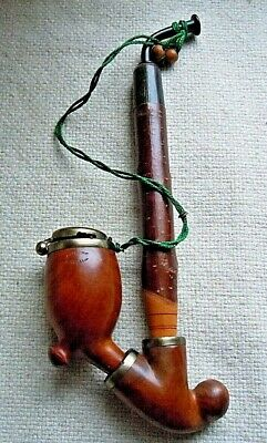 Vintage Bruyere Garantie Czechoslovakia Briar Smoking Estate Pipe with Lid