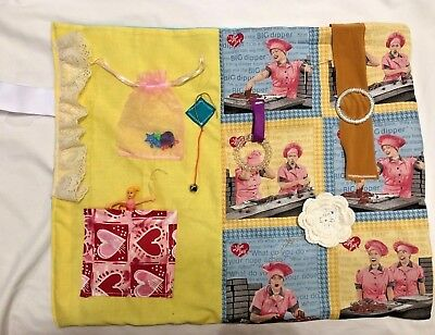 I Love Lucy Fidget, Activity Blanket /Quilt Suitable For Dementia Or Alzheimer's