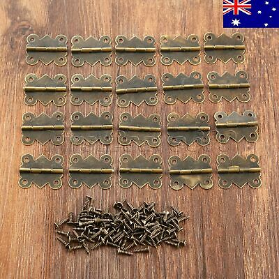 AU STOCK Butterfly Hinges Decor Jewelry Box Cabinet Dollhouse Door Hinges 20pc