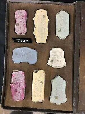 Qing Dynasty Old Chinese Antique Multi Colors Ink Block Set Asian Art Collection