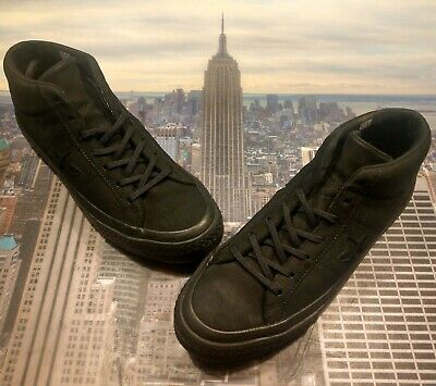 c447d841b066a Converse One Star Mid Top Boot Triple Black Counter Climate Size 11 158832c  New