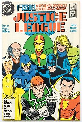 Justice League 1 1987 DC Comics Very Fine 1st Maxwell Lord appearance Bag Board