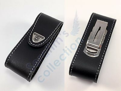 Victorinox Leather Pouch With Clip 4.0524.31 for 111mm 1-6 layers Folding Knife