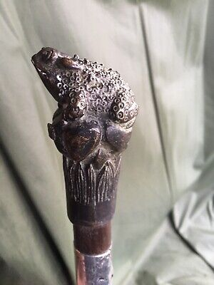 Rare 1937 Silver And Bronze Walking Stick
