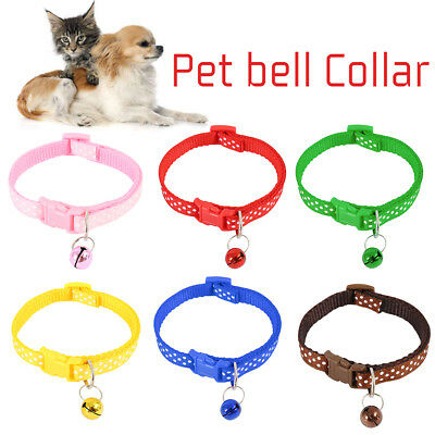 Dog Cat Collar Pet Puppy Kitten Adjustable Harness Neck Strap with Bell AU!